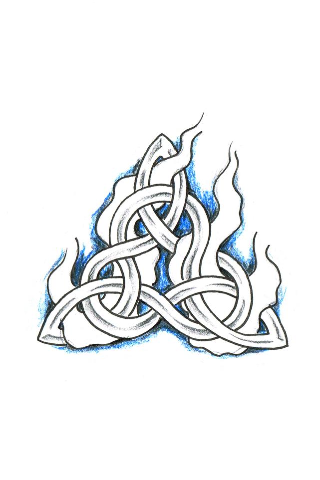 Celtic Knot Blue flames