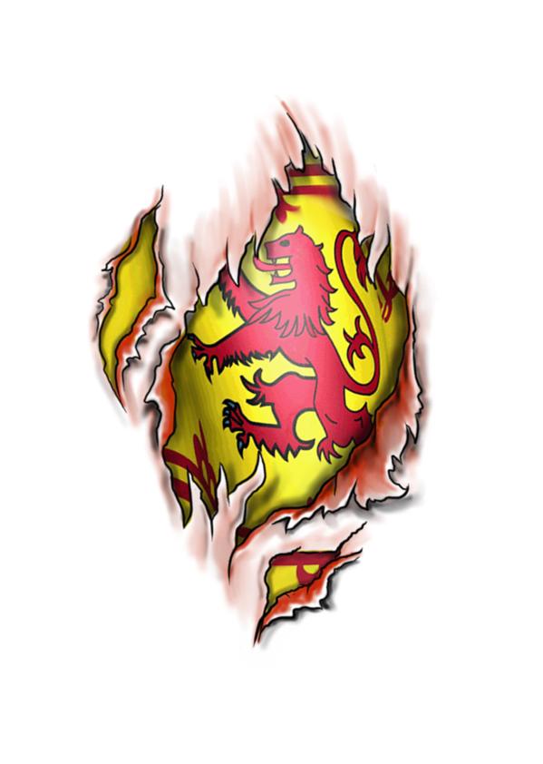 Scottish Lion Rampant flag