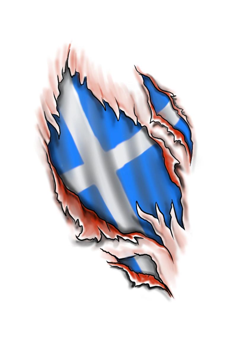 Scottish Flag Ripped Skin